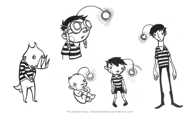 sketchbookjack_angler_boys_character_design_cartoon_illustration